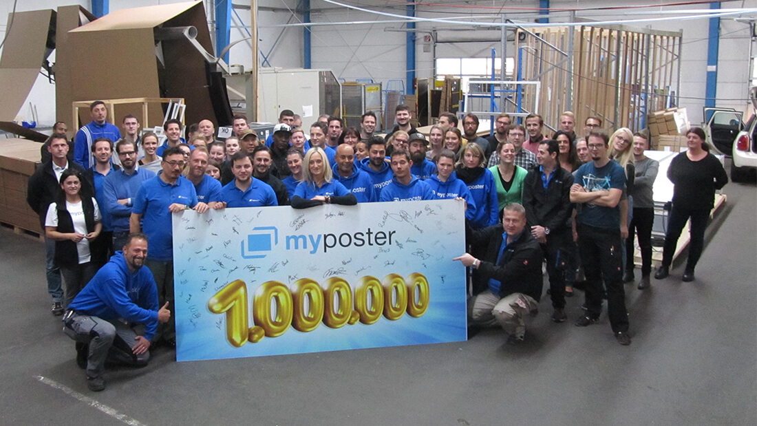 1 Million verkaufte Artikel myposter